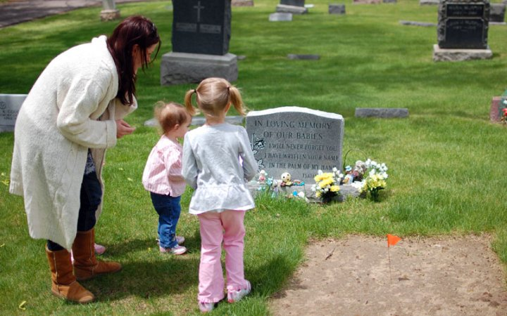 My second trip to Noah's grave. The first time Ted and I went alone. The second time we brought our girls.