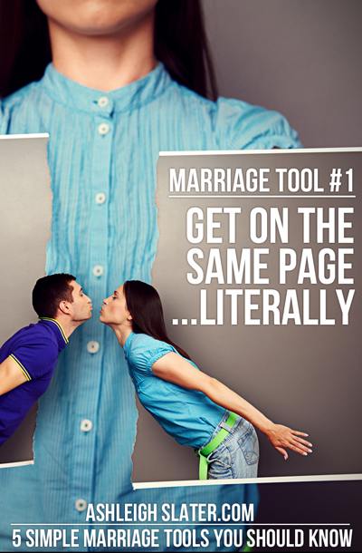 Marriage Tool #1: Get on the Same Page ... Literally