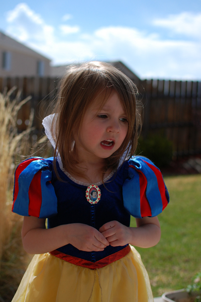 The dress worn by Daughter #2 in 2010 while singing in the backyard.