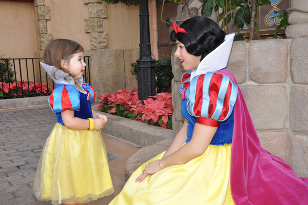 The dress worn at Disney World by Daughter #4 in 2014.